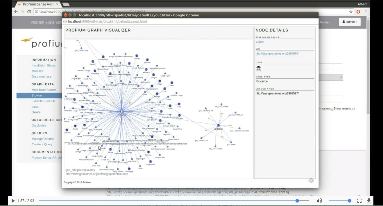 VIDEO DEMO of how to import any RDF data to the Profium Sense graph database / Graafitietokanta